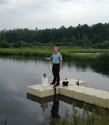Steve Ellner at ResPonds on the dock